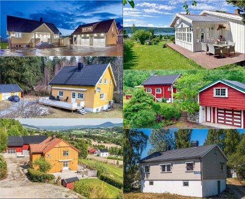 SOLGT: Dette er noen av eiendommene som ble solgt i løpet av juli.