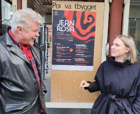 Terje Kollbotn og Sofie Marhaug på Jernrosa hausten 2020. No er dei 1. og 2. kandidat på Raudt Hordaland si stortingsliste til valet neste år.