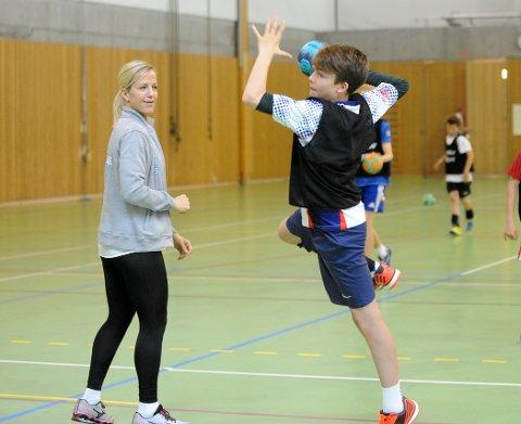 ELEV OG LÆRER: Adrian Nyrud Gobel imponerte strekstjernen Heidi Løke med sitt spill. Alle Foto: Solfrid Therese Nordbakk