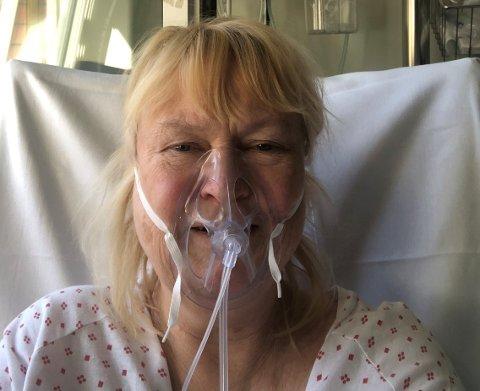KORONA-SYK: I 27 dager lå NRK-profil Marianne Rustad Carlsen i isolasjon og med pustehjelp på Ullevål sykehus.