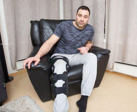 Nikolay Angelov Nikolov ble skadd på trening Legevakta sendte ham til fastlegen Det tok mange timer før han kom til behandling på sykehuset. Foto: Ola Solvang