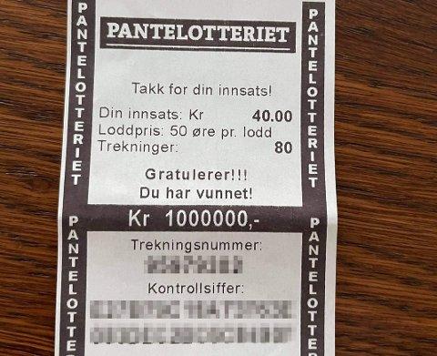 VINNER: Mannen fra Tromsø kunne juble hele veien til banken etter panteturen.