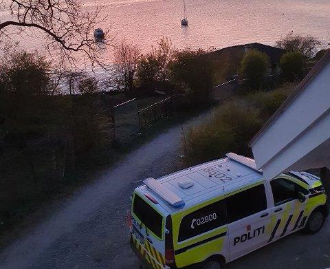 Politiet rykket ut til Nesodden og stranda på Fjellstrand onsdag kveld.