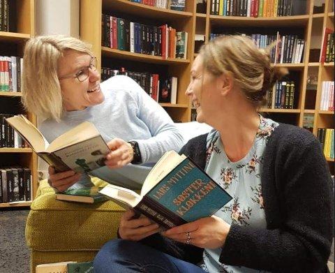 TIPS: Irene Nørberg og Benedikte Gjone leser mange bøker hvert år og her er ders tips til de beste bøkene fra 2018