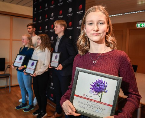 Sunniva Rognan er en av dem som mottar årets kulturstipend fra Helgeland Sparebank.