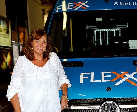INGEN ENDRINGER: Flexx-rutene i Sarpsborg kjøres som vanlig. - Men alle  bestillinger må på skje på telefon, sier Solfrid Rød Olsen.
