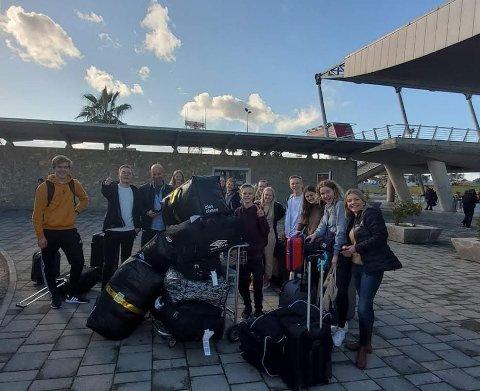 TIL ALBANIA: Gjengen fra Jørpeland menighet som reiste til Albania.