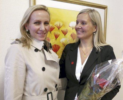 Jordmødre: Merethe Ulveseth (t.v.) nominerte venn og jordmorkollega Gunvor Raundalen til hverdagshelt.foto: Emilie gundersen