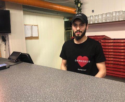 Khaled Shennar i Demaskus restaurant.