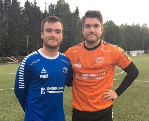 BRØDRE: Markus Havnes Løken (th) debuterte for Idd, men sammen med broder Eirik ble det tap 1-3 for Råde.