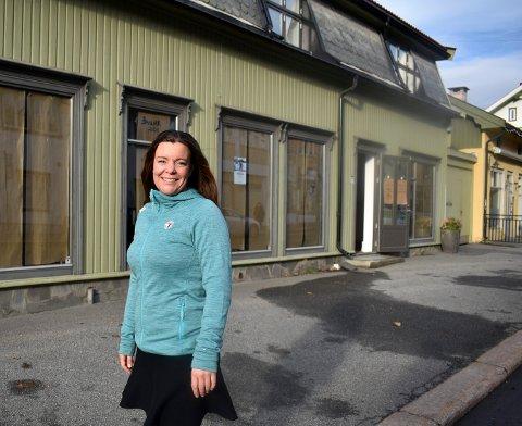 Ingunn Våer er glad for at turistforeningen (DNT Kongsberg) kan flytte til Kirkegata 12 på nyåret.