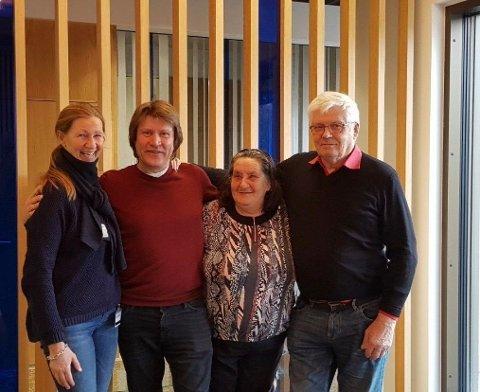 PASCAL NORGE STØTTER VINTERFESTIVALEN PÅ GJØVIK: Hovedkomitéen for «Ski for alle» er Siri Syvrud (f.v), Ola Narten Svendsen, Sabine Nyholt  og Karl Hans Glommen.