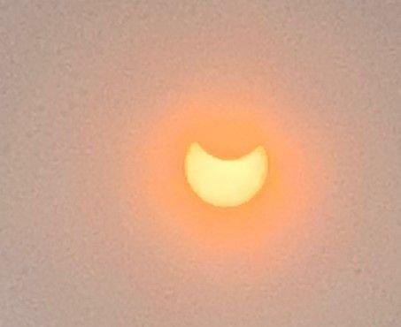 Solformørkelsen ca kl 12.30