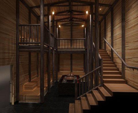 Blockhouse Sauna kalles det, og er en tørr badstue med store temperaturforskjeller. Dampen over forskjellige urter og oljer påvirker kropp og sinn på ulike måter.