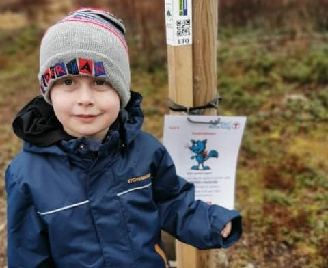 1.premie: Sander Oliver Bjørnstad vant førstepremien i påskekonkurransen til Barnas Turlag.