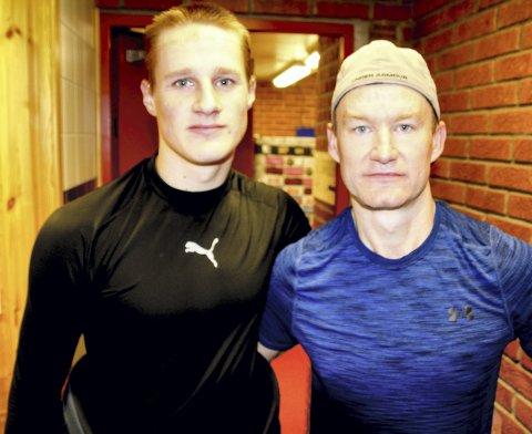 Får skryt: Fredrik Pedersen (t.v.) høster mye ros fra sin backpartner og læremester, Mats Trygg (41). Alle foto: Per Morten Sødal