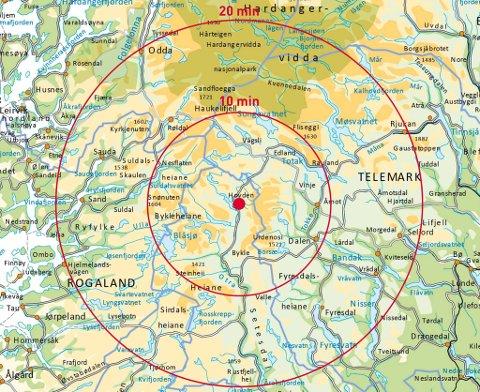 kart over hovden Telemarksavisa   Jublar for ekstra påskeambulanse kart over hovden