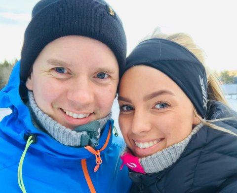 SPESIELL TID: Dorthe Groa og samboer Fredrik Gundersen hadde en spesiell førjulstid. – En perfekt avslutning på året, sier Groa. Foto: Privat