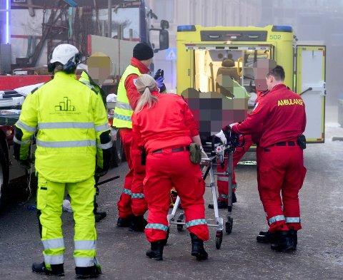 En mann ble skadet i forbindelse med arbeidsulykken på Strømsø torg forrige tirsdag, men det skal gå bra med mannen.