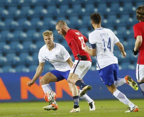 FRA START: Jo Inge Berget spilte 73 minutter for Norge mot San Marino. Foto: NTB