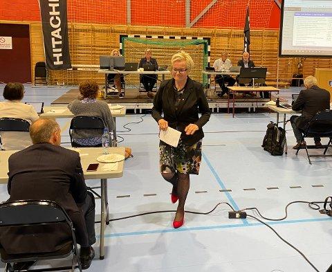 KLAR TALE: Aps Turid Løsnæs mener eiendomsskatt er uungåelig for Larvik i den økonomiske situasjonen kommunen er i nå. Samarbeidspartiet Høyre er like klare på at de er uenige i det.