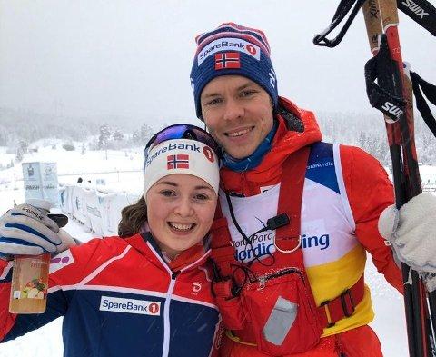 GODT SAMARBEID: Magnus Evenby og Vilde Nilsen har jobbet sammen de tre siste årene.