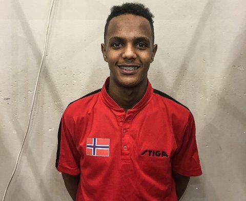 DEBUTANT: Yared Seifu (14) representerte Norge for første gang, under Riga City Youth Open i Latvia.