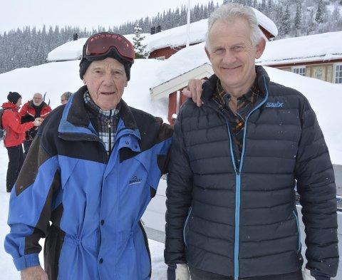 Skielsker: Børge Rosenfeldt har feriert hos Tor-Erik Grønolen på fjellgarden i over tretti år. 91-åringen simpelthen elsker ski, Beito og vinter.