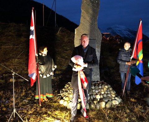 Urett: Forsvarsminister Frank Bakke-Jensen beklaget og ba om unnskyldning for uretten som er begått mot grenselosene og deres familier etter 2. verdenskrig og helt fram til i dag.