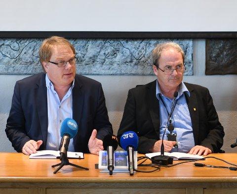 Rådmann Eystein Venneslan og Askøy-ordfører Terje Mathiassen (Ap).