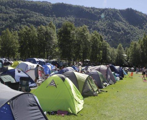 Ressurskrevande: Arrangørane av Malakoff brukar mykje ressursar på søppelhandtering i samband med festivalen, opplyser campsjef Sveinun Mæland Pile. Arkivfoto.