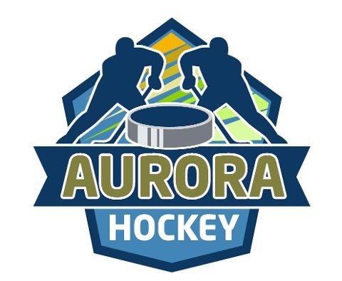 Nytt damelag: Slik ser logoen til Narviks nye ishockeyklubbb, Aurora Hockey.