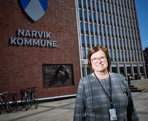 STOLT: Iris Bartholsen, beredskapsansvarlig i Narvik kommune, skryter nok en gang av befolkningen i kommunen som tar pandemien på alvor.