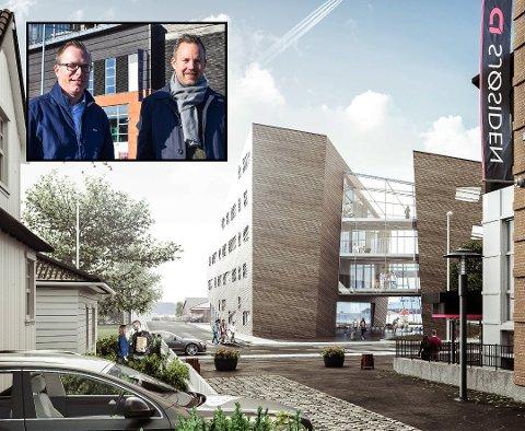 – VIKTIG: – Vi må spare 81 millioner i løpet av to år og det er ikke et ønske å verken kutte i tjenester eller innføre eiendomsskatt. Da må vi skape inntekter ved å tilføre mer på toppen og legge til rette for næringslivet i kommunen, sier Høyres Niklas Cederby og Stian Hauenschild.