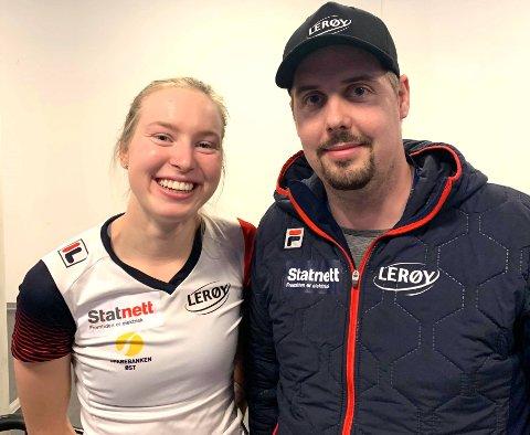 GULLDUOEN: Verdensmester Ragne Wiklund har nordodølingen Jonas Bekken som trener, og resultatet av samarbeidet som bare har vart noen måneder, er oppsiktsvekkende godt.