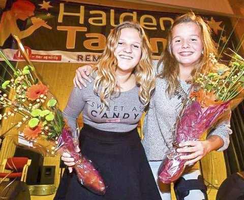 TALENTER: Nora Juvet Nomel (tv) og Kaja Aasly Haartveit fra Aremark har vært med tidligere.