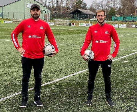 NYE TRENERE: Kent Hansen (tv) og Eirik Horvath er nye trenere for Kvik Haldens damelag.