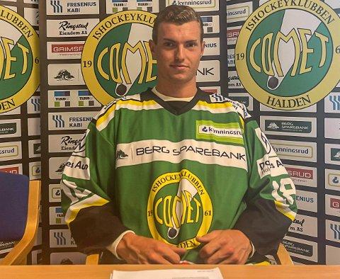 TIL COMET: Andreas Laschitza har spilt juniorhockey i storklubben Frölunda. Nå har det storvokste forwarden skrevet under for Comet.