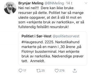 Brynjar Melings tweet.