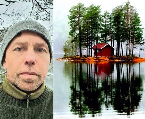 HER TRIVES JEG: Fisking og naturbilder har blitt Trond Bjørklunds store lidenskap på fritida. Nå ønsker han at flere av sambygdingene kan få øynene opp for de unike rekreasjonsmulighetene som ligger rett utenfor stuedøra.