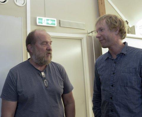 Hør de unge: Terje Mindrebø (Rødt) (t.v.) og Per-Erik Schulze (MDG) ønsket å legge kommunens klima- og miljøplan ut på høring.