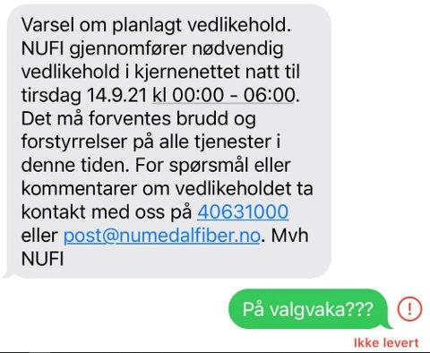 REAGERER: Denne SMS'en fikk Audhild Margareth Tho til å reagere.