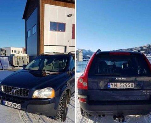 STJÅLET: Nat til tirsdag ble denne bilen stjålet på Ballstad