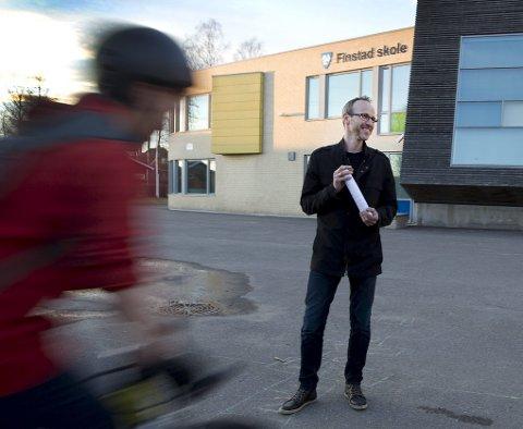 PRovosert: FAU-leder ved Finstad skole, Per Christian Langset liker aksjonsformen til BevareÅs, veldig dårlig.Arkivfoto