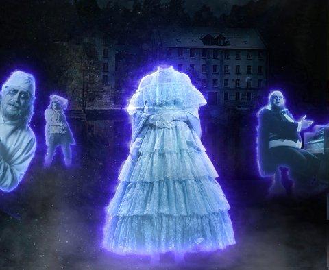 TRENGER HJELP: Fossekleiva kultursenter har blitt invadert av spøkelser. Nå jakter de spøkelsesjegere som kan bekjempe spøkelsene.
