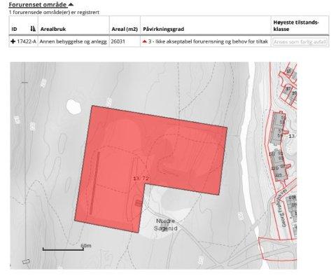 FARLIG AVFALL: Grunnen til  Nordre Sagerud skytebane er av Statsforvalteren klassifisert som farlig avfall. Klassifiseringen er lagt inn i matrikkelen og følger eiendommen. Bakgrunnen er undersøkelser gjort i år 2000.