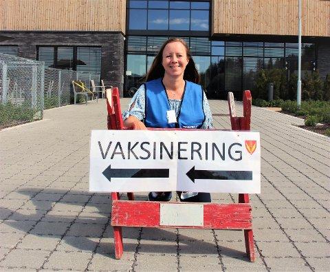 VIL VAKSINERE FLERE: Koronakoordinator i Lunner kommune, Camilla Worvik Orbraaten.