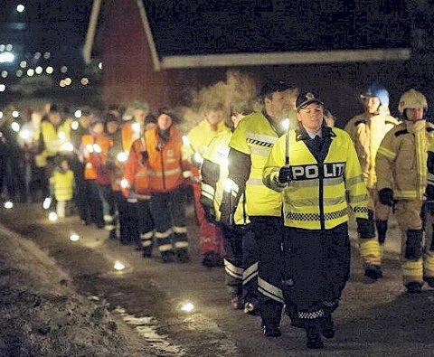 Lys Til ettertanke: Arrangementet har vært avholdt årlig siden 1994, og 5. januar blir siste markeringen i Vestfold, slik det har vært fram til i dag. Arkivfoto