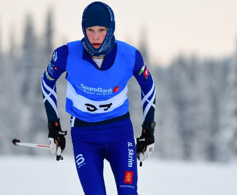 ENDELIG SKIRENN: Jarand Gustafsson og flere av Skrims skiløpere kunne endelig delta på skirenn i helgen. Jarands far, Per Gustafsson, synes rennet føltes trygt å dra på.