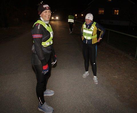 MÅL OM OSLO: Anita Toftner og Siri er med på trening en kveld i uka.